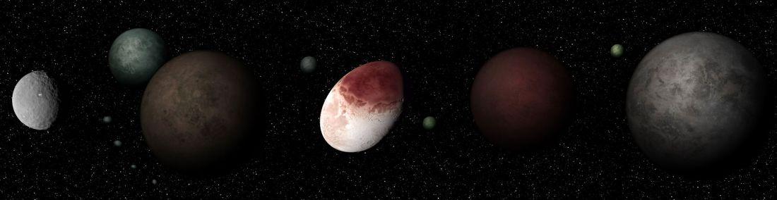 Planetes Naines Du Systeme Solaire 3d Hd Planete Astronomie